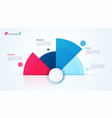 circle chart design modern infographic vector image