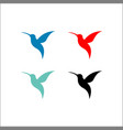 colorful flying hummingbirds set isolated vector image