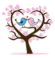 couple of birds in tree vector image vector image