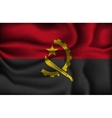 crumpled flag of Angola vector image vector image