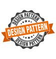 design pattern stamp sign seal vector image