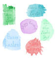 easter lettering on watercolor substrate vector image