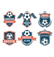 emblem of football theme sport logos vector image vector image