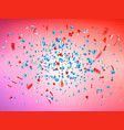 explode template with confetti particles vector image vector image