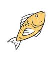 fish color icon cafe restaurant menu fish species vector image