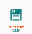 Floppy disk computer symbol vector image vector image