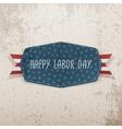 Happy Labor Day festive Tag vector image vector image