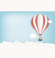 hot air balloon in the sky with clouds and vector image