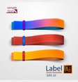 infographic banners color label options set vector image