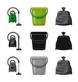 isolated object cleaning and service logo vector image vector image