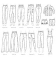 leggings fit style jeans female denim pants vector image vector image