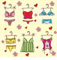 Lingerie set vector image