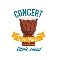 Live music concert isolated label emblem vector image vector image
