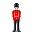 London guard isolated on white vector image
