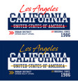 los angeles california t-shirt and apparel vector image vector image