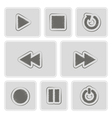 monochrome player icons vector image vector image