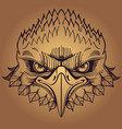 muzzle of an eagle for creating sketches of vector image vector image