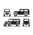 off road vehicle in perspective vector image vector image