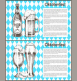 oktoberfest posters beer set vector image vector image