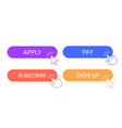 online participation buttons apply subscribe and vector image