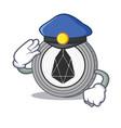 police eos coin character cartoon vector image vector image