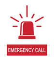 police or ambulance red flasher siren emergency vector image