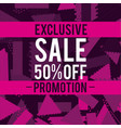 sales promotions and discounts vector image vector image