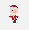 santa claus thoughtful and happy vector image vector image