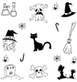 Scary element halloween doodle vector image vector image