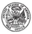 seal war department united vector image vector image