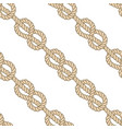 seamless marine rope pattern figure 8 knot vector image vector image