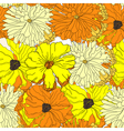 Seamless wallpaper with yellow flowers vector image vector image