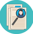 Searching professional staff analyzing resume vector image