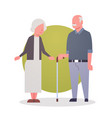 senior man and woman couple grandmother and vector image