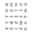 set 25 hand lettering quotes about coffee drink vector image vector image