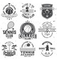 set of basketball and tennis badge emblem or sign vector image vector image