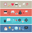Set of flat design banners for web b vector image vector image