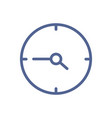 simple line art icon clock with hour and minute vector image