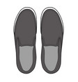 slip-on shoes template vector image