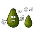 Smiling ripe green avocado fruit character vector image