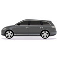 station wagon car body type vector image vector image