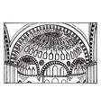 suleimani mosque building vintage engraving vector image vector image