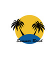 summer beach logo image vector image vector image
