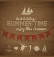 summer time wood background vector image vector image