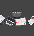 teamwork business people together symbol vector image vector image