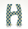 The letter H of the alphabet made of Huckleberry vector image vector image