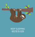 the story of one sloth with family funny cartoon vector image
