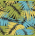 tropical branches seamless pattern for design vector image vector image