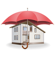 Umbrella and House vector image vector image