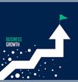 upward success arrow business growth concept vector image vector image